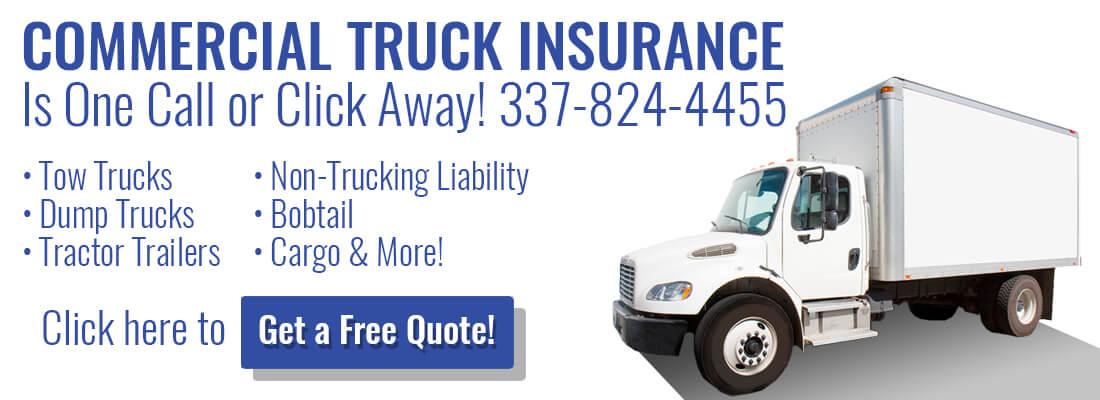 Louisiana Commercial Truck Insurance